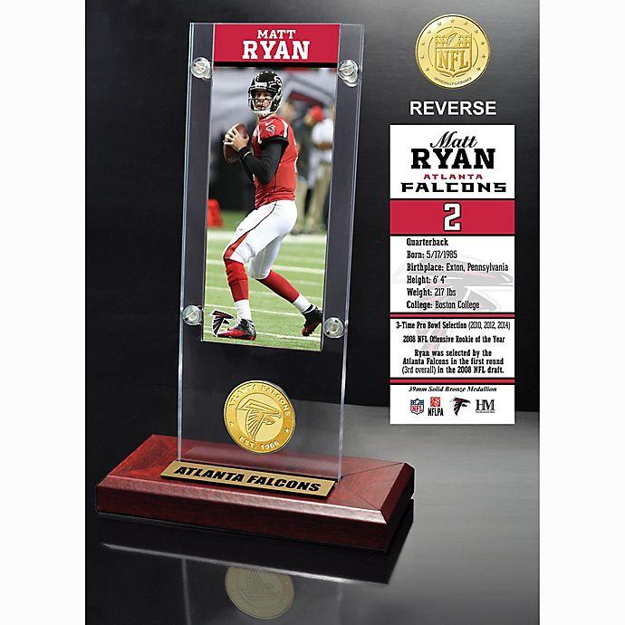 Alternate image 1 for Matt Ryan Ticket & Bronze Coin Acrylic Desk Top