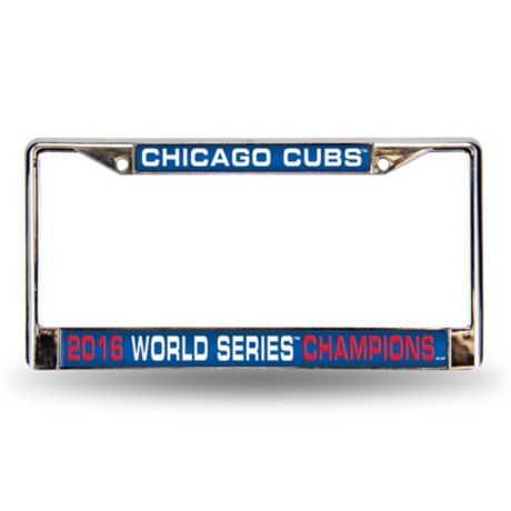 MLB World Series Champions Chicago Cubs License Plate Frame | Bed ...
