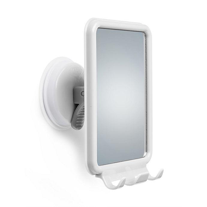 Alternate image 1 for Mommy's Helper™ Safe-er-Grip Shower Mirror with Razor Hooks