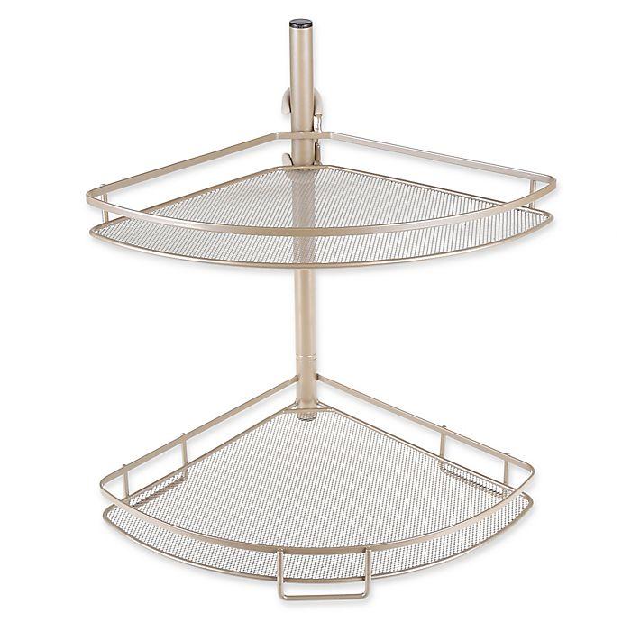 Alternate image 1 for .ORG™ Adjusting Corner Bathroom Shelves in Matte Nickel