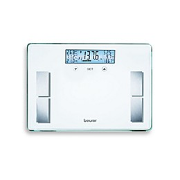 Beurer Glass Body Analysis Bathroom Scale in White