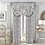 Part of the J. Queen New York™ Chandelier Window Curtain Panels and Valance in Silver