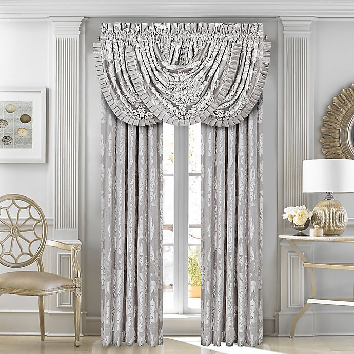 Alternate image 1 for J. Queen New York™ Chandelier 84-Inch Window Curtain Panel Pair in Silver