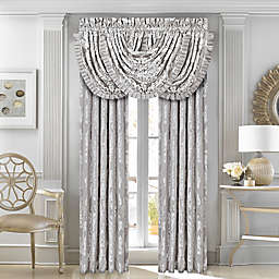 J. Queen New York™ Chandelier Window Curtain Panels and Valance in Silver