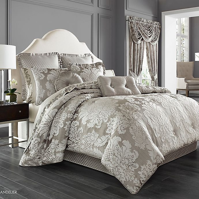 Alternate image 1 for J. Queen New York™ Chandelier Comforter Set in Silver