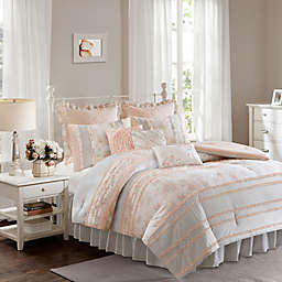 Madison Park Serendipity Cotton Percale Duvet Cover Set in Coral