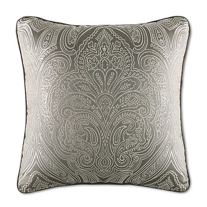 Alternate image 1 for J. Queen New York™ Corinna Square Throw Pillow in Silver