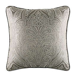 J. Queen New York™ Corinna Square Throw Pillow in Silver