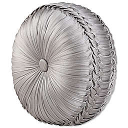 J. Queen New York™ Chandelier Tufted Round Throw Pillow in Silver