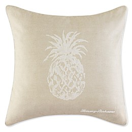 Tommy Bahama® Pineapple Square Throw Pillow in Ivory