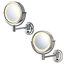Jerdon® 8-Inch Round Lighted Wall Mount Mirror