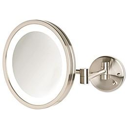 Jerdon® 9-Inch LED Wall Mount Mirror in Nickel