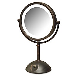 Jerdon® 8x LED Tabletop Mirror in Bronze