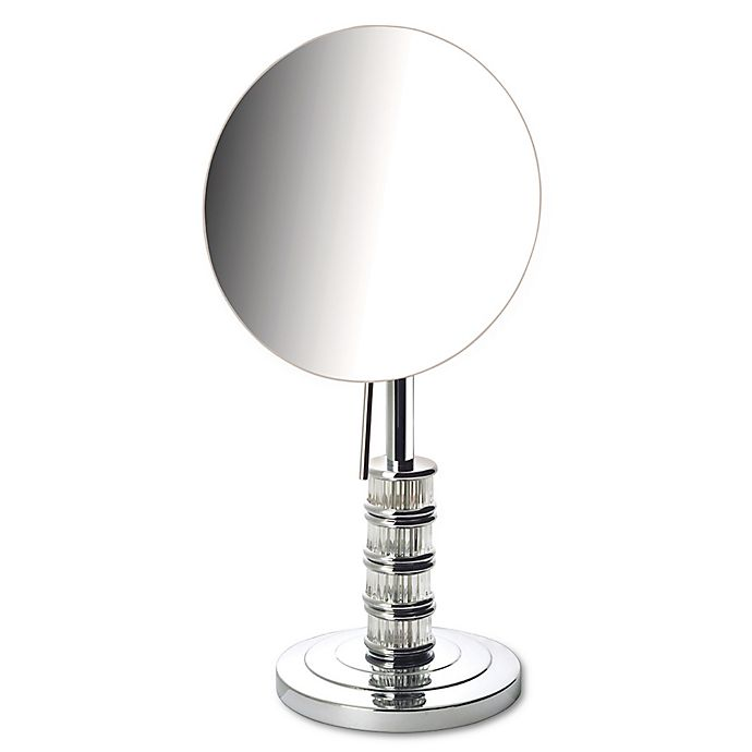Alternate image 1 for Jerdon® Steuben 5x Limited Edition Tabletop Makeup Mirror in Chrome