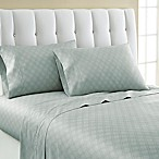 Laundry By Shelli Segal® 300-Thread- Count Winding Ogee Cotton Sateen Queen Sheet Set in Blue