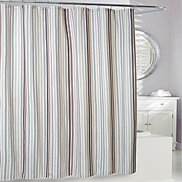 Stratford Shower Curtain in Taupe/Grey