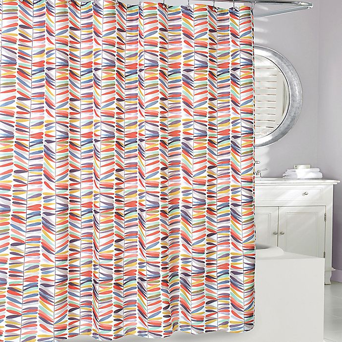 Alternate image 1 for Thomson Trail Shower Curtain in Rust/Gold