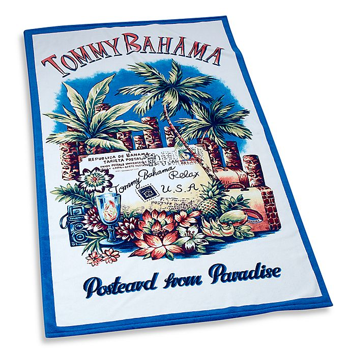 Postcard From Paradise 40 X 70 Beach Towel By Tommy Bahama 100