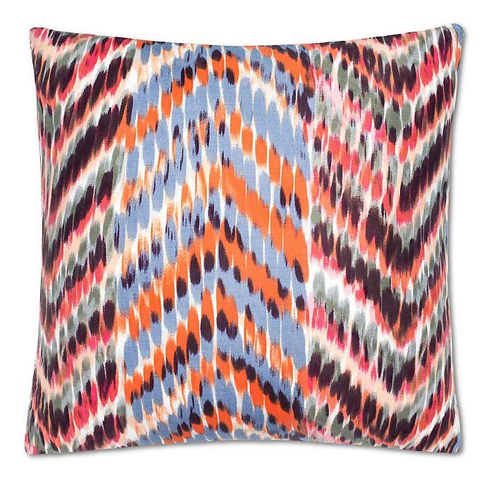 Alternate image 1 for Zanzibar Herringbone Square Throw Pillow in Burgundy/Orange
