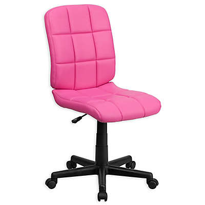 Flash Furniture Mid-Back Quilted Vinyl Task Chair
