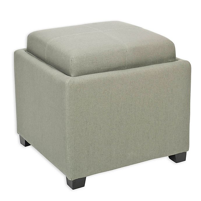 Swell Safavieh Harrison Single Tray Storage Ottoman Bed Bath Alphanode Cool Chair Designs And Ideas Alphanodeonline