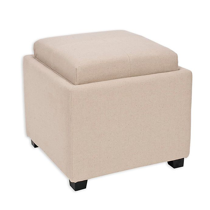 Ottomans Lifestyle Single Ottoman: Safavieh Harrison Single Tray Storage Ottoman