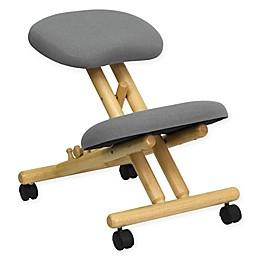 Flash Furniture Ergonomic Kneeling Chair in Grey