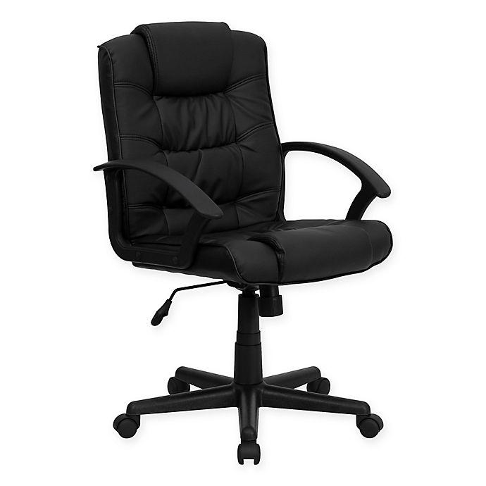 Alternate image 1 for Flash Furniture Mid Back Swivel Task Chair in Black