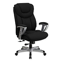Flash Furniture Big & Tall Fabric Executive Office Chair in Black