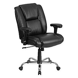 Flash Furniture Big & Tall Faux Leather Swivel Task Chair in Black