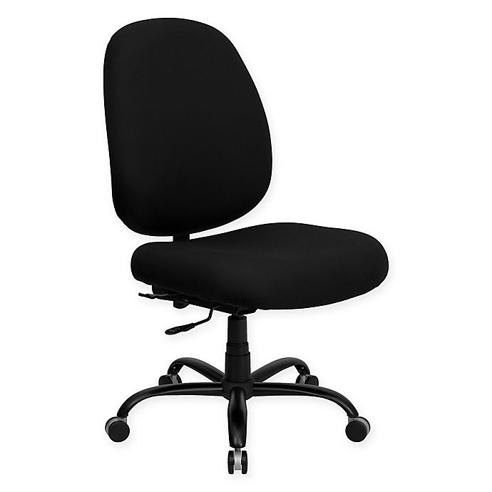 Flash Furniture Hercules Series Big Tall Fabric Wide Seat Office Chair In Black Bed Bath Beyond