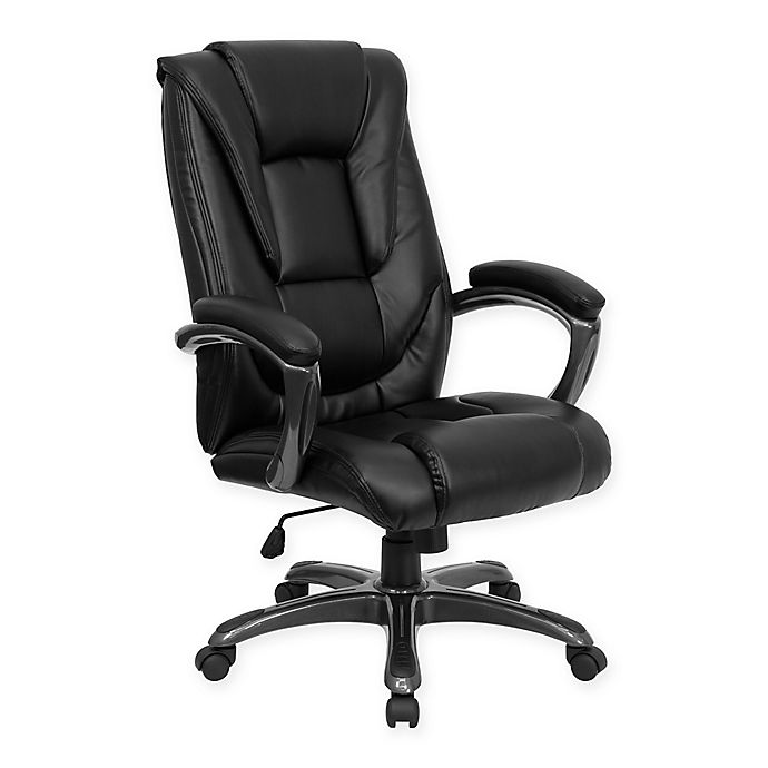 Flash Furniture High Back Leather Executive Office Chair In Black Bed Bath Beyond
