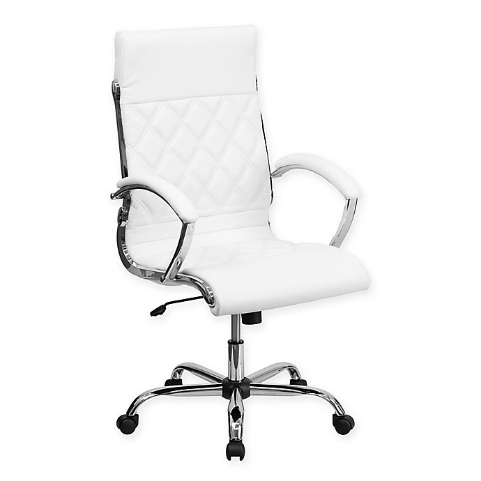 Flash Furniture High Back Leather Executive Office Chair In White Bed Bath Beyond