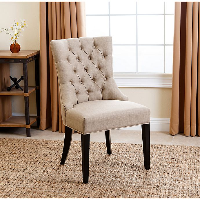 Cool Abbyson Living Tivoli Tufted Dining Chair In Beige Bed Spiritservingveterans Wood Chair Design Ideas Spiritservingveteransorg