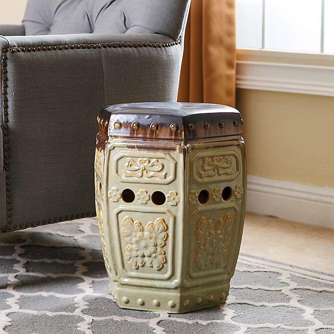 Alternate image 1 for Abbyson Living® Milana 18-Inch Embossed Ceramic Garden Stool
