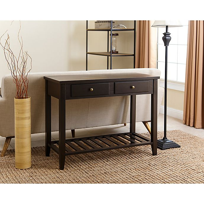 Abbyson Living Owen Sofa Table In Espresso Bed Bath Beyond