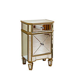 Abbyson Living® Alexis Mirrored Cabinet Chest in Silver