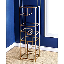 Abbyson Living® Rowley Glass Bookcase in Gold