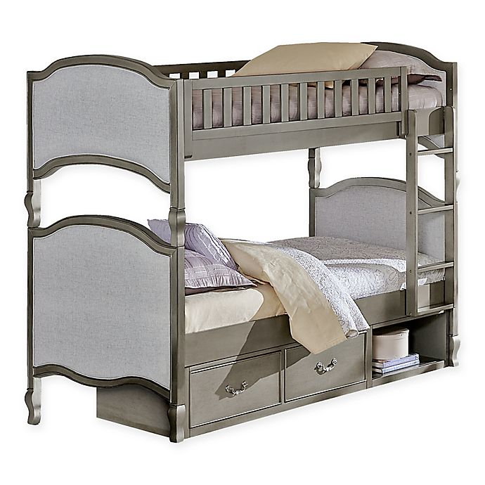 Alternate image 1 for Hillsdale Kensington Victoria Twin-Over-Twin Bunk Bed with Storage in Antique Silver