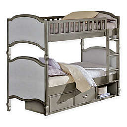 Hillsdale Kensington Victoria Twin-Over-Twin Bunk Bed with Storage in Antique Silver