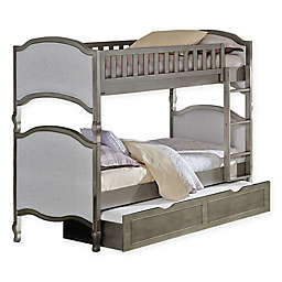Hillsdale Kensington Victoria Twin-Over-Twin Bunk Bed with Trundle in Antique Silver