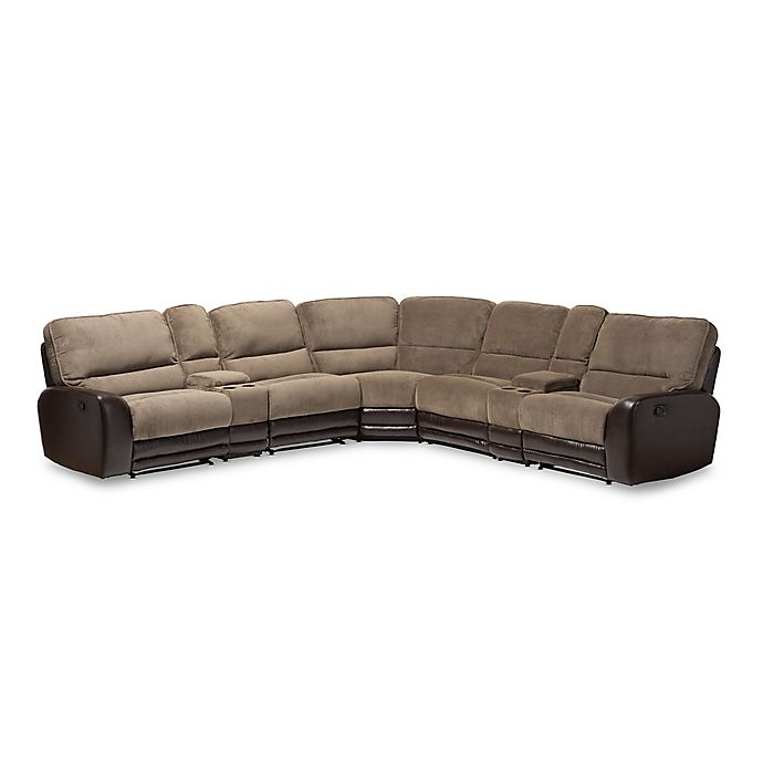 Baxton Studio Richmond Sectional Sofa In Taupe/Brown