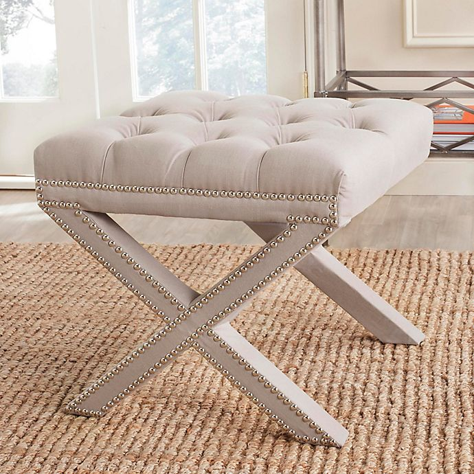 Alternate image 1 for Safavieh Patrice Ottoman in Taupe