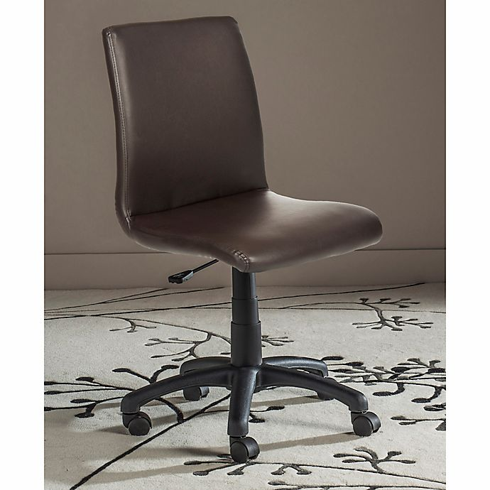 Alternate image 1 for Safavieh Hal Faux Leather Desk Chair in Brown