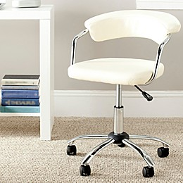 Safavieh Pier Desk Chair in Cream