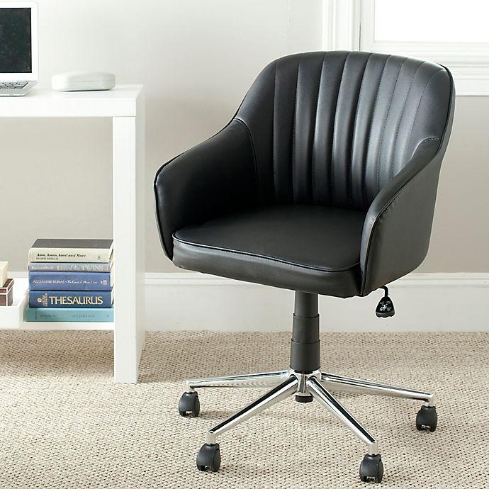 Alternate image 1 for Safavieh Hilda Desk Chair in Black