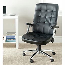 Safavieh Olga Desk Chair in Black