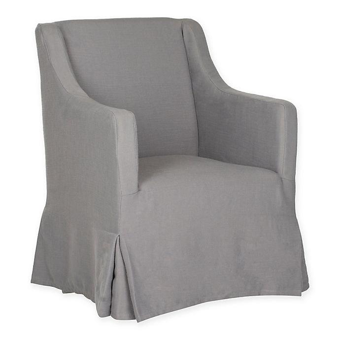 Excellent Safavieh Sandra Slipcover Chair In Arctic Grey Bed Bath Unemploymentrelief Wooden Chair Designs For Living Room Unemploymentrelieforg