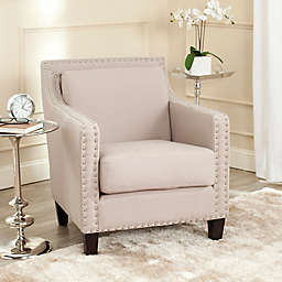 Safavieh Charles George Arm Chair in Taupe