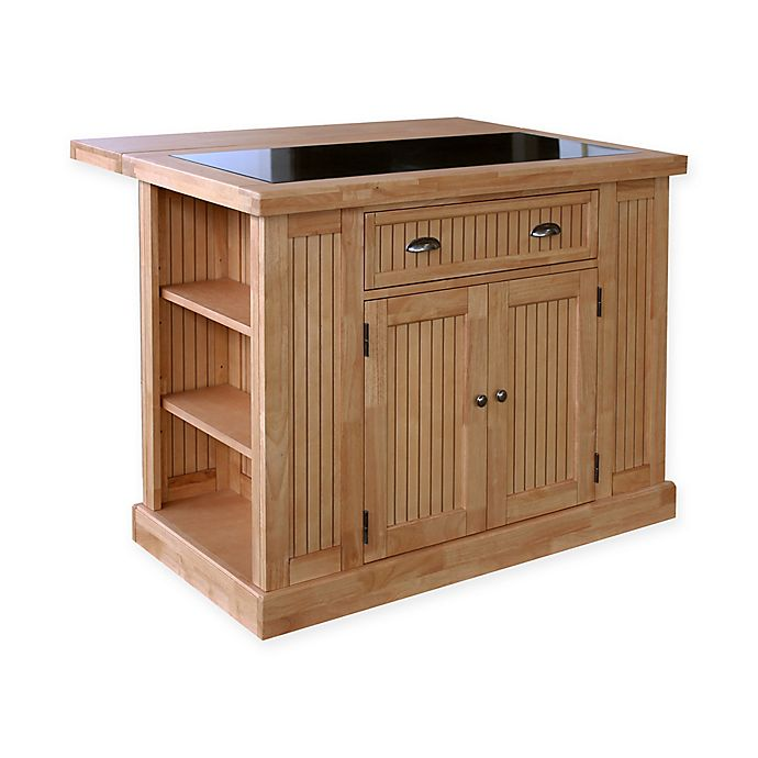 Home Styles Nantucket Natural Kitchen Island with Granite ...